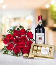 Rosas Chocolates y Vino