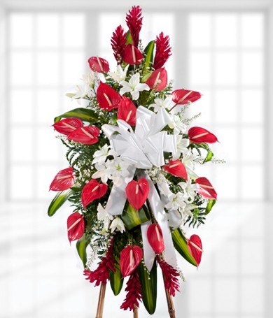 Flower Delivery Canada on Standing Funeral Arrangement   Usd 139 99