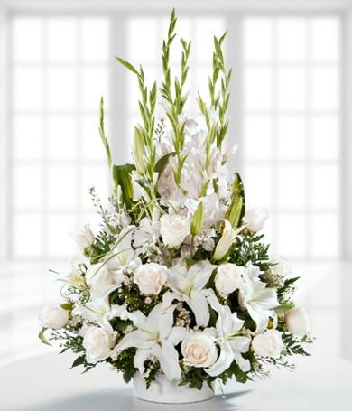 Canasta de Flores Blancas