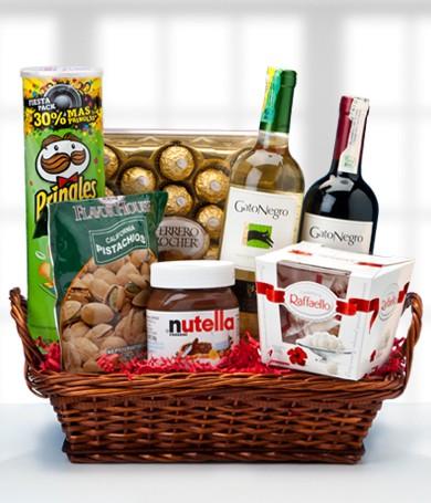 Snacks and Wine Basket