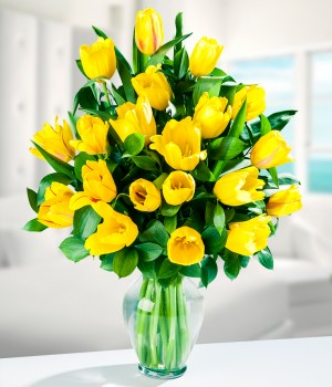 Golden Tulips Arrangement