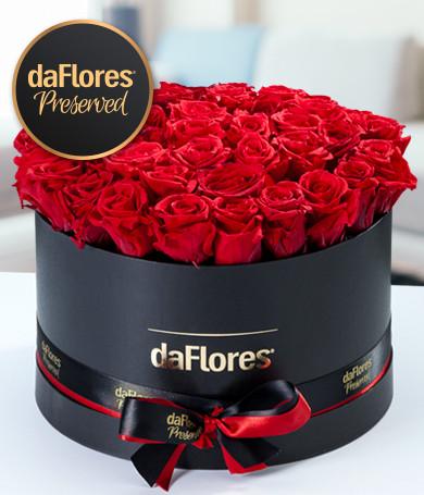 Rosas Preservadas Caja Redonda