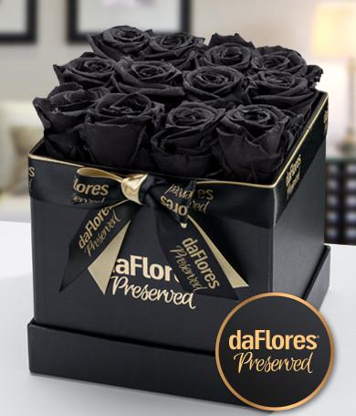Rosas Preservadas Caja Pequeña (Negra)