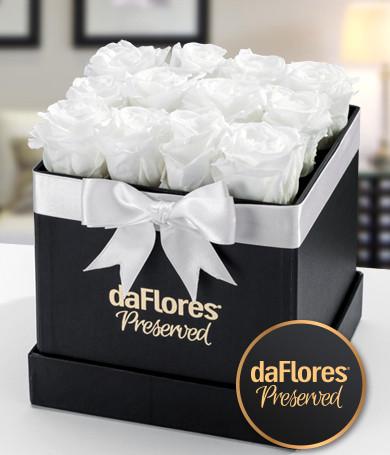 Rosas Preservadas Caja Pequeña (Blancas)