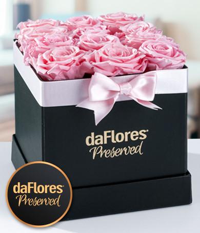 Rosas Preservadas Caja Pequeña (Rosadas)