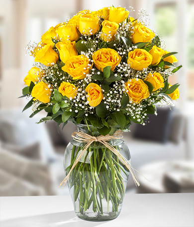 Three Dozen Yellow Roses